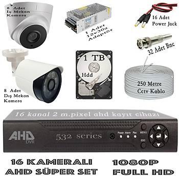 Bycam Ahd Süper 16 Kameralý Set 1080p Full Hd