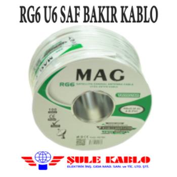 RG6 U6 SAF BAKIR ÞULE KABLO 64 TEL ( 500 METRE )