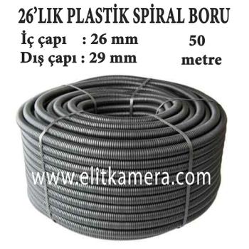 26'LIK Plastik Spiral Boru ( 50 Metre )