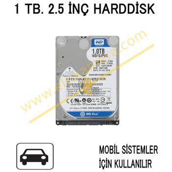 1 TB 2.5 Ýnç Harddisk Mobil Sistemler Ýçin