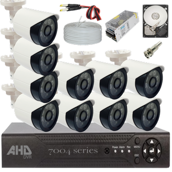 Bycam Ahd Süper 10 Kameralý Set 1080p Full Hd