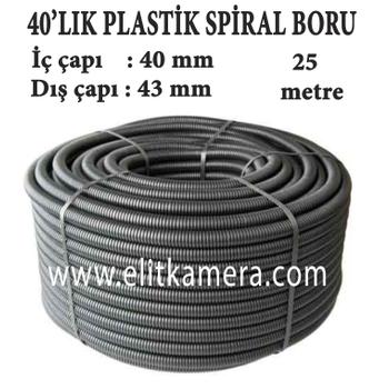 40'LIK Plastik Spiral Boru ( 25 Metre )