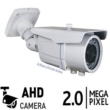Bycam 2008  2.0 Megapixel 2.8 - 12 MM Ahd Kamera W.Lens