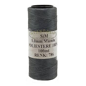 SÝM MUMLU ÝPLÝK - 1 mm (100 m.) GRÝ