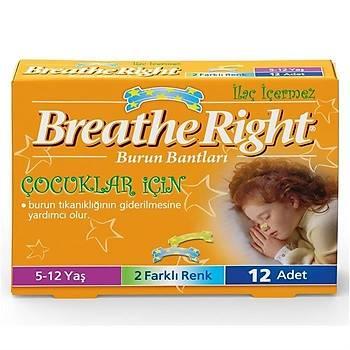 Breathe Right 12'li Çocuklar Için Burun Bandý