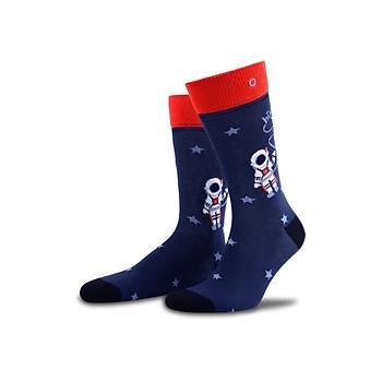 Astronaut Renkli Çorap