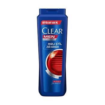 Clear Men Hýzlý Stil 2si1 Arada Þampuan 600ml