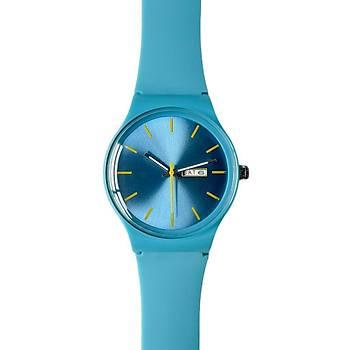 Colorful Mavi Silikon Kol Saati