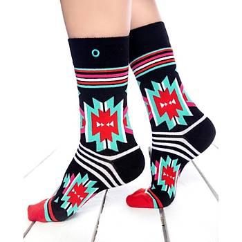 Yeuruk Renkli Çorap