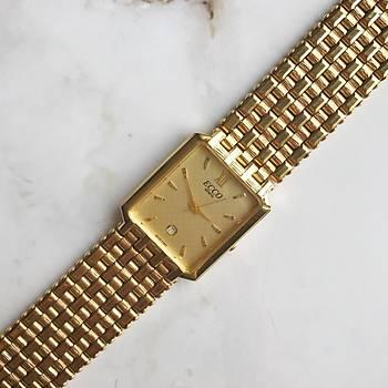 Vintage ECCO Gold Kadýn Kol Saati