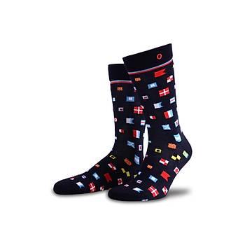 Seaflags Renkli Bayraklý Çorap
