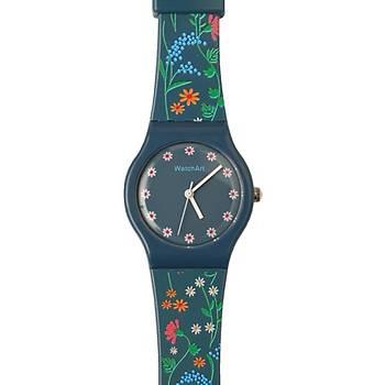 Lacivert Çiçekli Çocuk Kol Saati