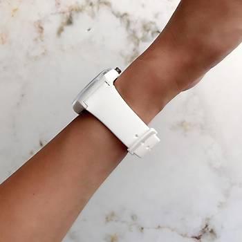 Colorful Beyaz Silikon Kol Saati