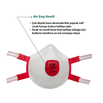 Ege 2433 FFP3 Maske 10'lu Paket