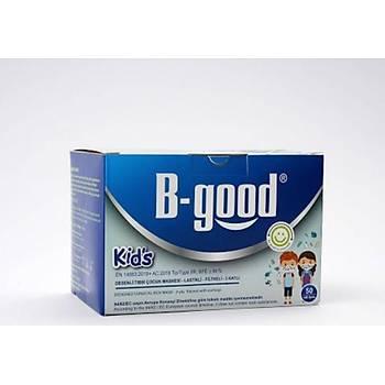 B-Good Kids Desenli Çocuk Maskesi - 3 Katlý - Sertifikalý - 50 Adet