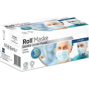 Roll Cerrahi Maske Tek Tek Paketli 50'li
