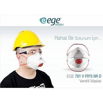 Ege 701 N99 FFP3 Ventilli Maske 30'lu Paket