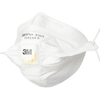 3M VFlex FFP2 Maske - 15'li Paket - Ventilli - Partikül Toz Maskesi - 9162E