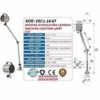 Erc-L-01-67-M Led Makina Aydýnlatma Lambasý 110-220V Ac