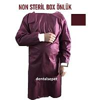 SKD Non - Steril Hekim Önlüðü Fuþya / Bordo ( Box Önlüðü - Implant Önlüðü - Cerrahi Hekim Önlüðü )