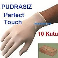 PERFECT TOUCH PUDRASIZ ELDÝVEN - LATEX ANTÝALERJÝK 10 Paket (100 lük ) / LARGE / NAKLÝYE DAHÝL