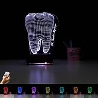 3d 3 Boyutlu Masa Gece Lambasý Dentist Diþ V4