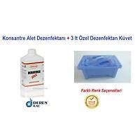 Deren-DERDEVICE PLUS 1 Litre Konsantre Alet Dezenfektaný ( 1/100 Sulandýrýlýr ) + 3 Litre Dezenfektan Küveti