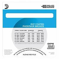 DADDARIO EXP16 Coated Phosphor Bronze Akustik Gitar Teli (12-53)