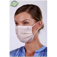 Dentac T-Mask CLA /  FDA Onaylý 3 Katlý Meltblown Filtreli Cerrahi Yüz Maskesi ( %98  BFE / PFE Filtrasyon ) Bej