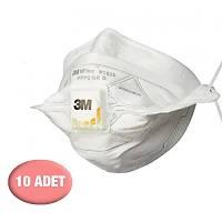 3M FFP2 ( N95 i karþýlar) - Ventilli Yüksek Solunum Koruyucu Maske ( 10 Adet )