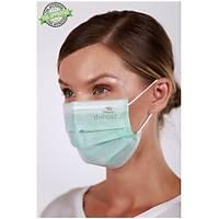 Dentac T-Mask CLA /  FDA Onaylý 3 Katlý Meltblown Filtreli Cerrahi Yüz Maskesi ( %98  BFE / PFE Filtrasyon ) Mavi