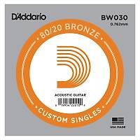 DADDARIO BW030 Akustik Tek Tel Bronze (Re)