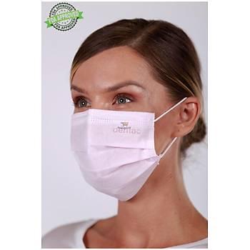 DENTAC T-Mask CLA /  FDA Onaylý 3 Katlý Meltblown Filtreli Cerrahi Yüz Maskesi ( %99  BFE / PFE Filtrasyon ) Pembe