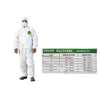 ProBody Coverall 3000 Kimyasal Tulum- Yüksek Koryuculu Tulum  Beden XXLarge (  186 - 194 cm arasý kiþiler için )
