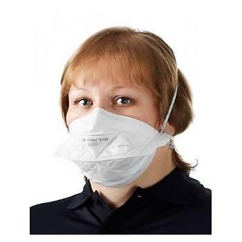 3M  FFP2 ( N95 i karþýlar) - Ventilsiz Yüksek Solunum Koruyucu Maske ( 10 Adet )