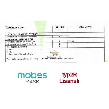 HAFTANIN ÜRÜNÜ !!! MOBES MASK 3 Katlý - typ2R Lisanslý Beyaz Maske