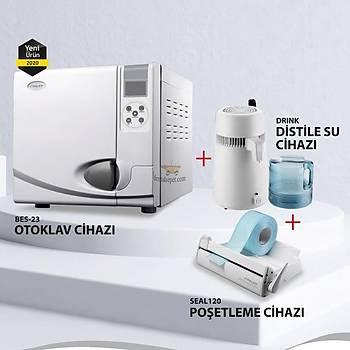 Bes-23 Otoklav Cihazý + Distile Su Cihazý + Seal120 Poþetleme Cihazý