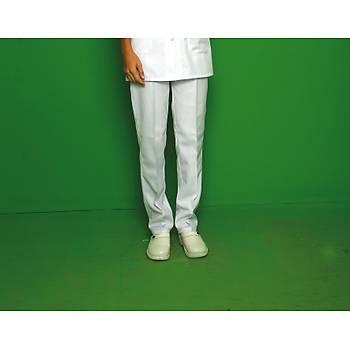 Erkek Beyaz Renk Doktor Pantolon - Alpaka Kumaþ