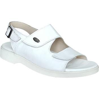 Beyaz Deri Ortopedik Erkek Sandalet ORT13AB