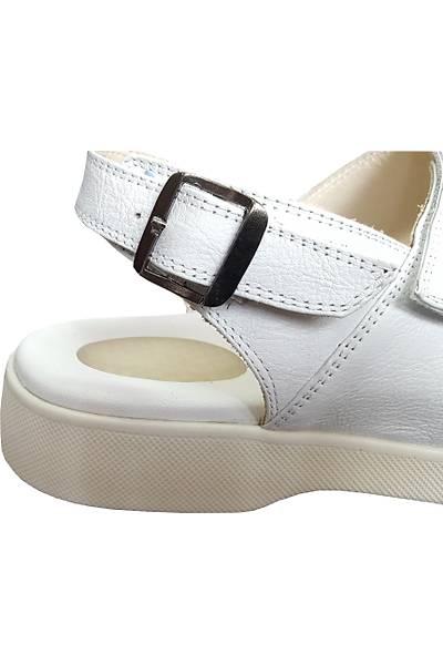 Erkek Topuk Dikeni Sandaleti Beyaz EPT14AB