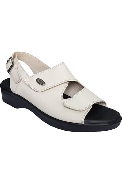 Ortopedik Sandalet Bayan Bej ORT07AJ