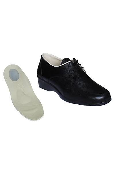 Topuk Dikeni Ýçin Ortopedik Ayakkabý Modeli Bayan Siyah EPTA02S