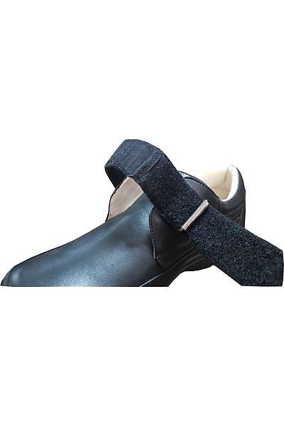 Diyabetik Erkek Ayakkabýsý OD-58 Siyah (Özel Ayarlanabilir Atkýlý Model)