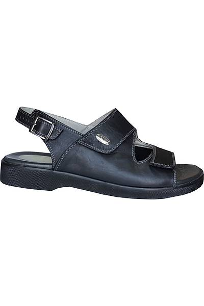 Erkek Halluks Valgus Sandaleti Siyah EPTHLX90AS (Topuk Dikeni Silikon Topukluk)