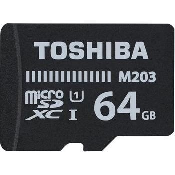 Toshiba 64GB Micro SDHC UHS-1 C10 THN-M203K0640EA