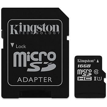 Kingston Canvas Select 16Gb Microsd 80Mb/S Class 10 Uhs-I Hafýza Kartý Sdcs/16Gb