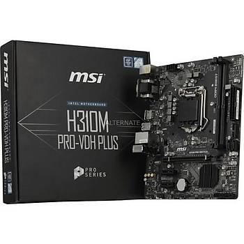 MSI H310M PRO-VDH PLUS SOKET 1151 DDR4 2666 DVI VGA HDMI USB3.1 mATX WIN7 WIN10 Anakart
