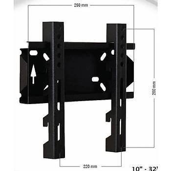 Vontech VT22S 10-32 inç LCD LED TV Sabit Aský Aparatý