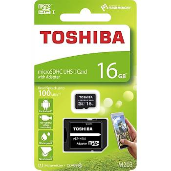 Toshiba 16Gb 100Mb/Sn Microsdhc™ Uhs-1 Class10 Excerýa