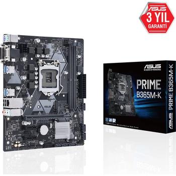 Asus Prime B365M-K Intel B365 2666MHz DDR4 LGA1151 mATX Anakart